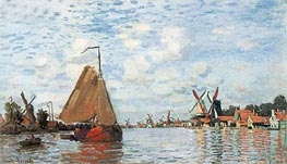 The Zaan at Zaandam | Monet | Painting Reproduction