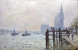 The Thames below Westminster, 1871 von Monet | Gemälde-Reproduktion