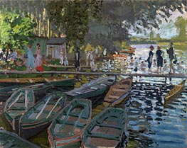 Bathers at la Grenouillere, 1869 von Monet | Gemälde-Reproduktion