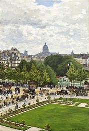 Garden of the Princess, Louvre, 1867 von Monet | Gemälde-Reproduktion