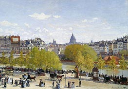 The Quai du Louvre, c.1866/67 von Monet | Gemälde-Reproduktion