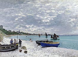 The Beach at Sainte Adresse | Monet | Painting Reproduction