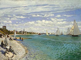 Die Regatta in Sainte Adresse, 1867 von Monet | Gemälde-Reproduktion