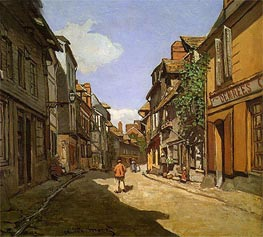 La Rue de La Bavolle at Honfleur, 1864 by Monet | Painting Reproduction