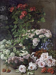 Spring Flowers, 1864 by Monet | Painting Reproduction