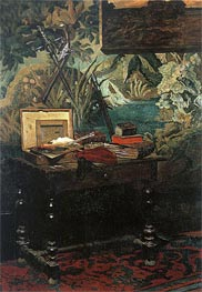 Corner of a Studio, 1861 by Monet | Painting Reproduction