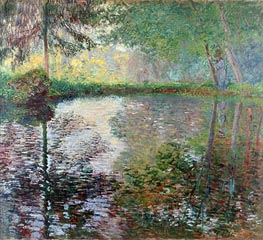 Pond at Montgeron, c.1876 by Monet | Painting Reproduction