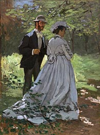 Bazille and Camille (Study for 'Déjeuner sur l'Herbe') | Monet | Painting Reproduction
