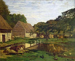 Farmyard in Normandy | Monet | Gemälde Reproduktion