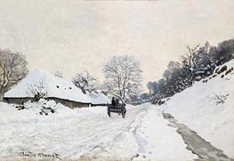 The Cart (Road under Snow at Honfleur) | Monet | Gemälde Reproduktion