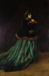 Camille (The Woman in the Green Dress), 1866 by Monet | Painting Reproduction