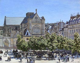 Saint Germain l'Auxerrois | Monet | Painting Reproduction
