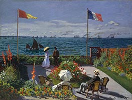 Garden at Sainte Adresse | Monet | Gemälde Reproduktion