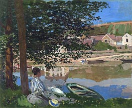 On the Bank of the Seine, Bennecourt | Monet | Painting Reproduction