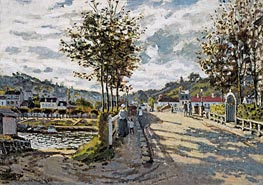 The Seine at Bougival, c.1869/70 by Monet | Painting Reproduction
