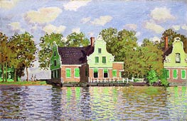 Houses on the Zaan River at Zaandam, c.1871/72 by Monet | Painting Reproduction