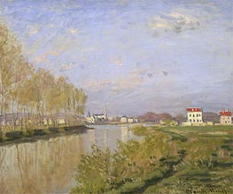 The Seine at Argenteuil, 1873 by Monet | Painting Reproduction