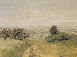 View of the Argenteuil Plain from San nois Hills | Monet | Painting Reproduction