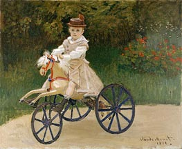 Jean Monet on His Horse Tricycle, 1872 by Monet | Painting Reproduction
