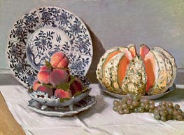Still Life with Melon, c.1876 by Monet | Painting Reproduction
