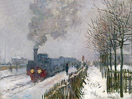 Train in the Snow (The Locomotive), 1875 by Monet | Painting Reproduction