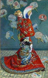 La Japonaise (Camille Monet in Japanese Costume) | Monet | Painting Reproduction
