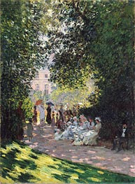 The Parc Monceau, 1878 by Monet | Painting Reproduction