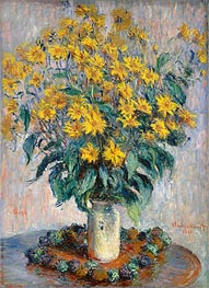Jerusalem Artichoke Flowers, 1880 by Monet | Painting Reproduction