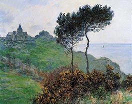 The Church at Varengeville, Grey Weather, 1882 by Monet | Painting Reproduction