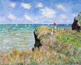 Cliff Walk at Pourville, 1882 by Monet | Painting Reproduction