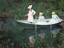 The Boat at Giverny (In the 'Norvegienne') | Monet | Painting Reproduction