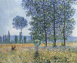 Under the Poplars, Sunlight Effect | Monet | Painting Reproduction