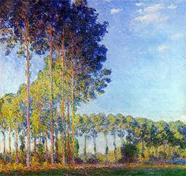 Poplars on the Banks of the Epte, Seen from Marsh | Monet | Gemälde Reproduktion