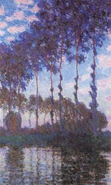 Poplars, Sunset | Monet | Gemälde Reproduktion