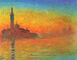 Twilight, Venice at Dusk, 1908 by Monet | Painting Reproduction