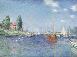 Red Boats at Argenteuil, 1875 von Monet | Gemälde-Reproduktion