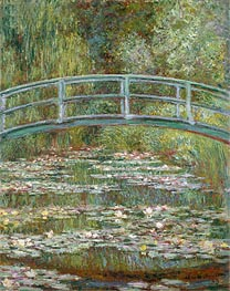 Bridge over a Pond of Water Lilies, 1899 by Monet | Painting Reproduction