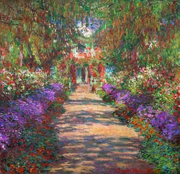 Pathway in Monet's Garden at Giverny | Monet | Painting Reproduction