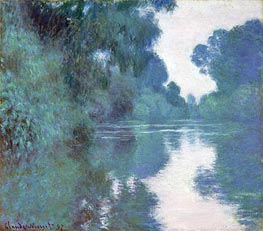 Morning on the Seine, near Giverny | Monet | Painting Reproduction