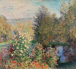 Corner of the Garden at Montgeron | Monet | Painting Reproduction