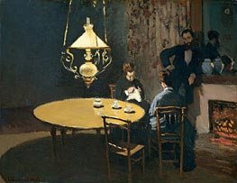 Interior, after Dinner, c.1868/69 by Monet | Painting Reproduction