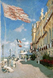 The Hotel des Roches Noires at Trouville, 1870 by Monet | Painting Reproduction