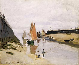 Entrance to the Port of Trouville, 1870 by Monet   Painting Reproduction