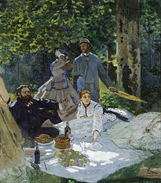 Dejeuner sur L'Herbe, Chailly, c.1865/66 by Monet   Painting Reproduction