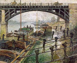 The Coal Dockers   Monet   Painting Reproduction