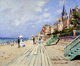 The Boardwalk at Trouville | Monet | Painting Reproduction