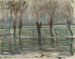 Flood Waters, 1896 by Monet   Painting Reproduction