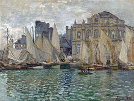 The Museum at Le Havre, 1873 by Monet   Painting Reproduction
