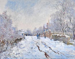 Snow Scene at Argenteuil, 1875 by Monet   Painting Reproduction