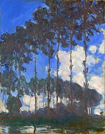 Poplars on the Epte, 1891 by Monet   Painting Reproduction